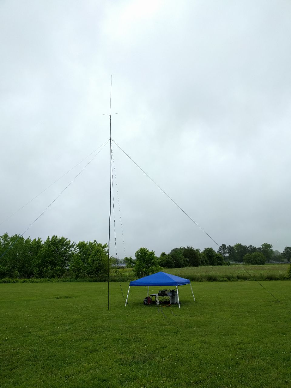 Portable site for repeater test