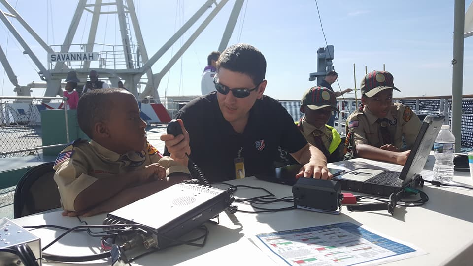 Kevin KB3PLX Helping Scouts get on the air